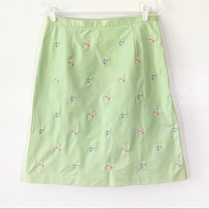 Brooks Brothers Stretch Skirt w/ Fish Pattern 12